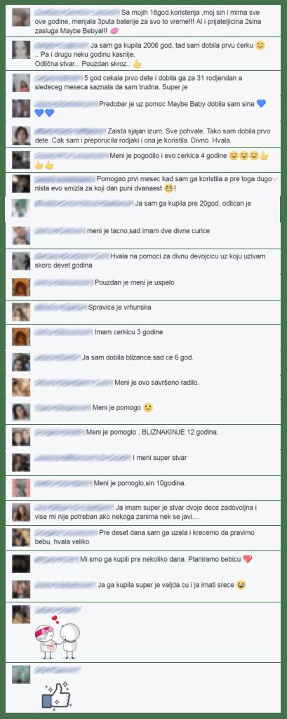 Maybe Baby Facebook komentari